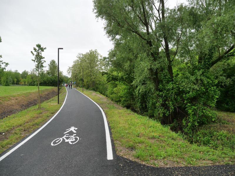 la nuova pista ciclabile
