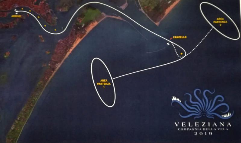 mappa del percorso della Veleziana