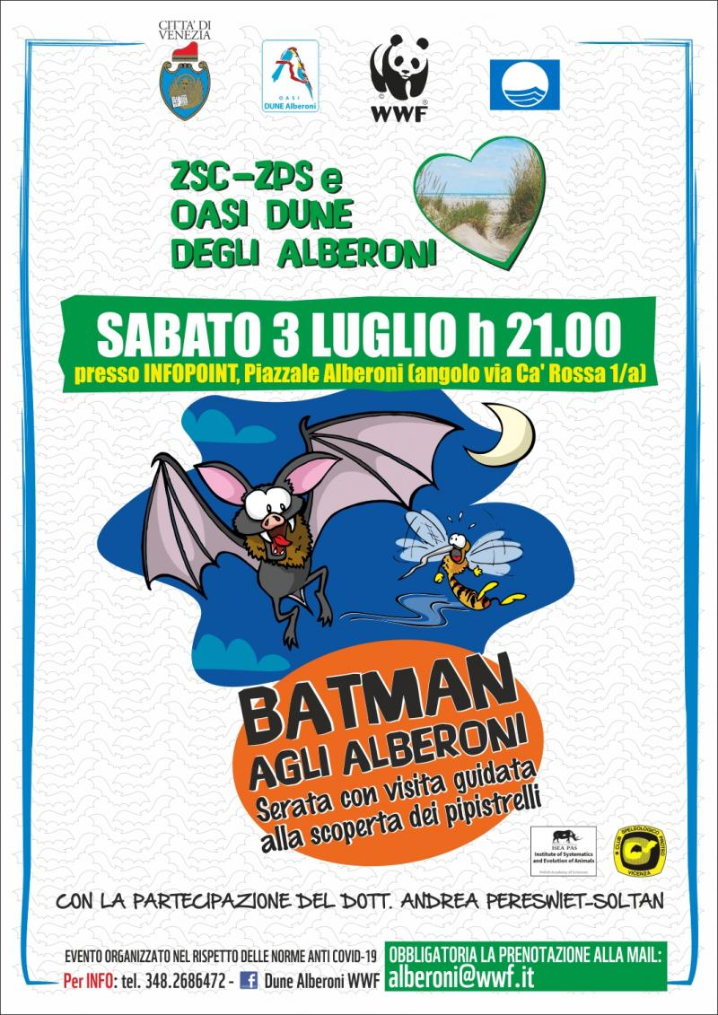 locandina pipistrelli alberoni 3 luglio 2021