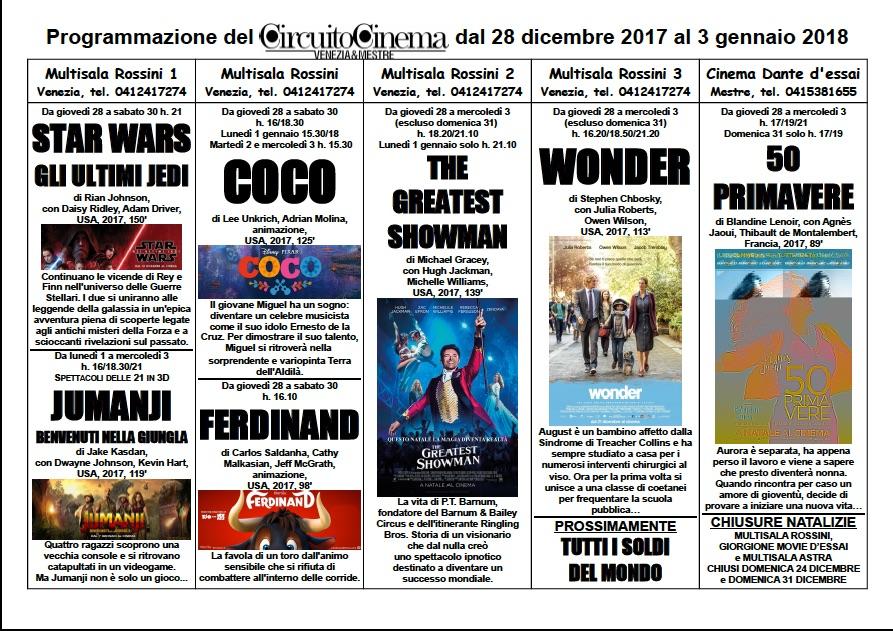 FilmCircuito 28 dicembre - 3 gennaio 1