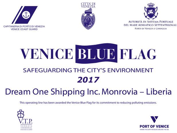 Targa Venice blue flag 2017