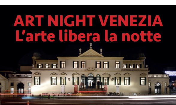 volantino per Art Night Venezia di VEZ