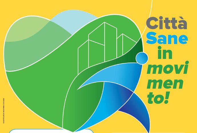 Città sane in movimento - particolare della locandina