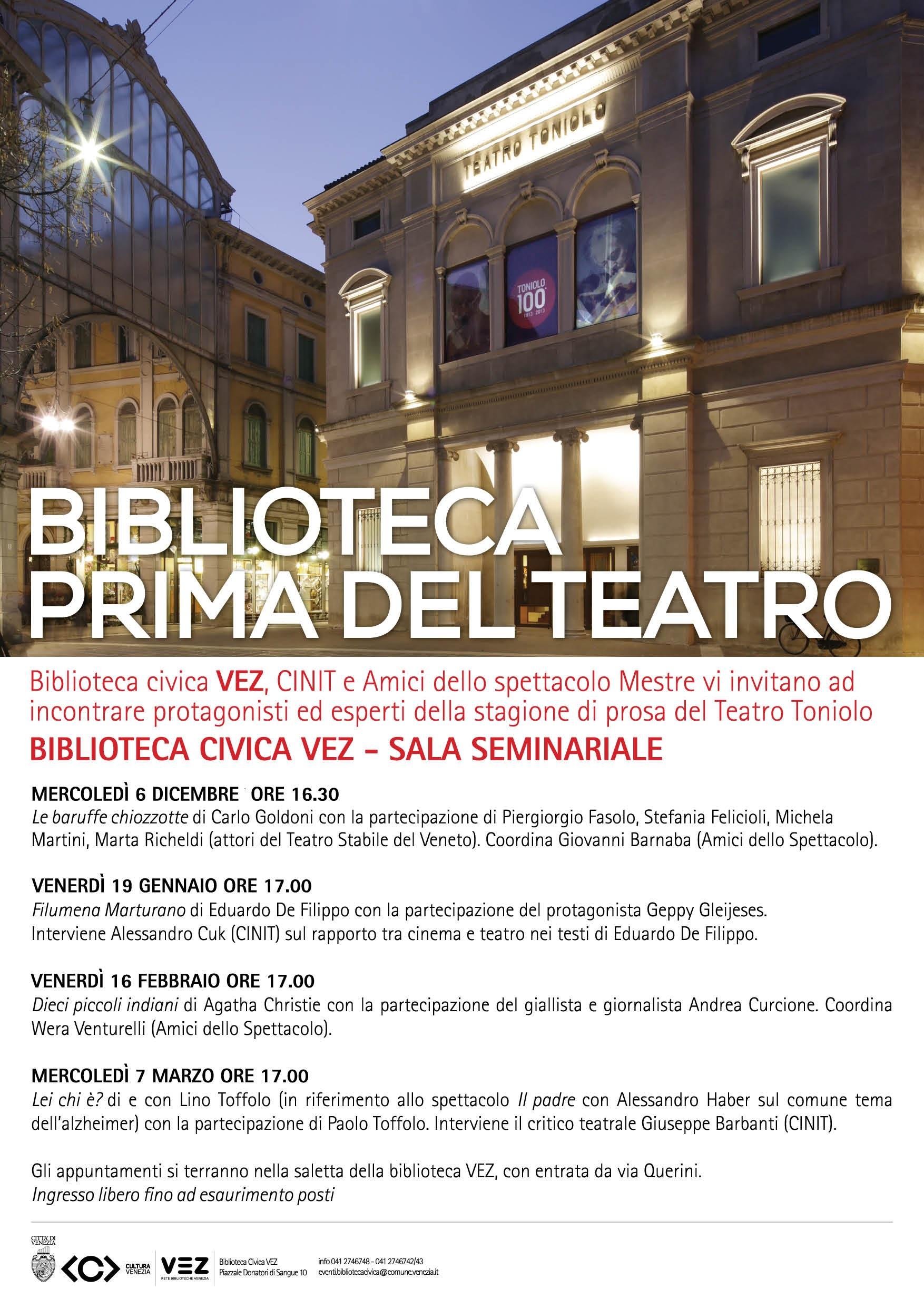 locandina Biblioteca prima del teatro