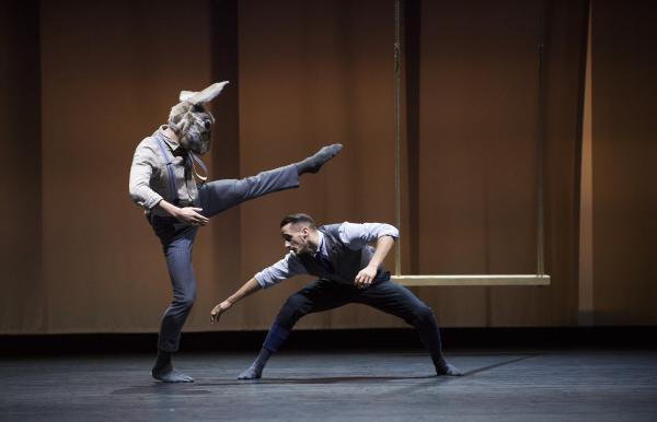 Bradley Waller in BalletBoyz Life. (Rabbit) Credit Tristram Kenton