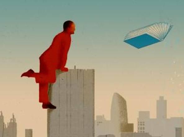 illustrazione libro volante