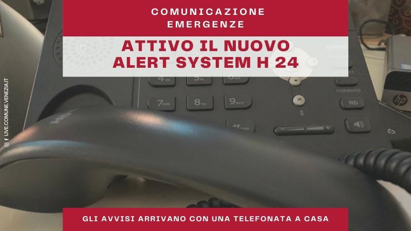 Grafica descrittiva sul nuovo servizio di alert telefonico