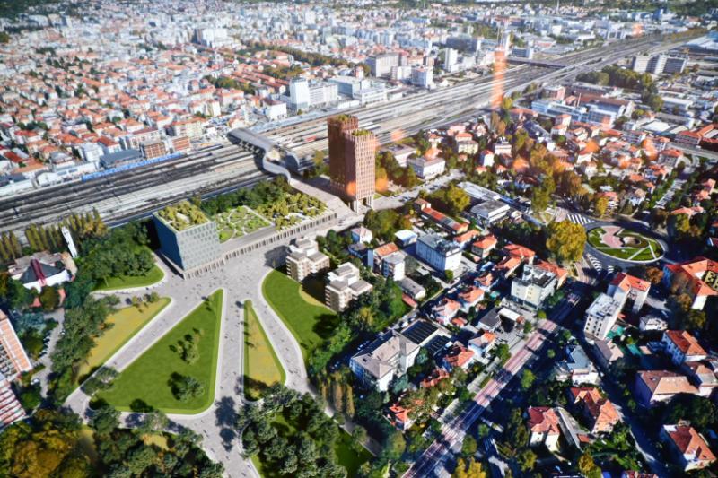 rendering nuova area stazione ferroviaria