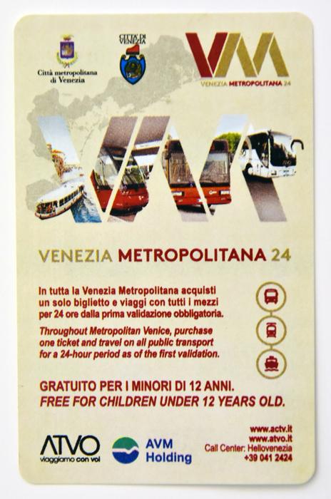 Biglietto Venezia metropolitana 24