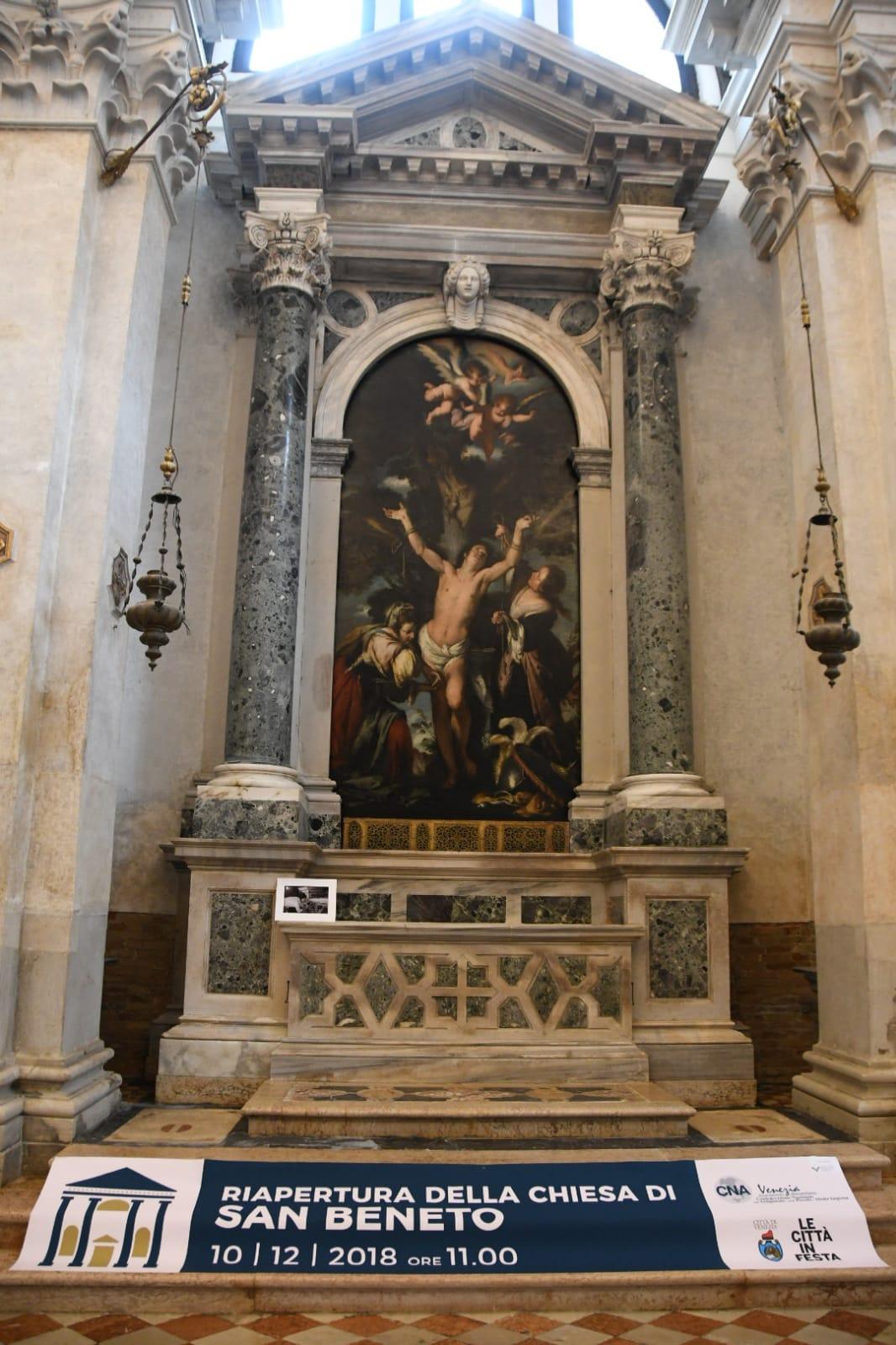 Interno chiesa di San Beneto