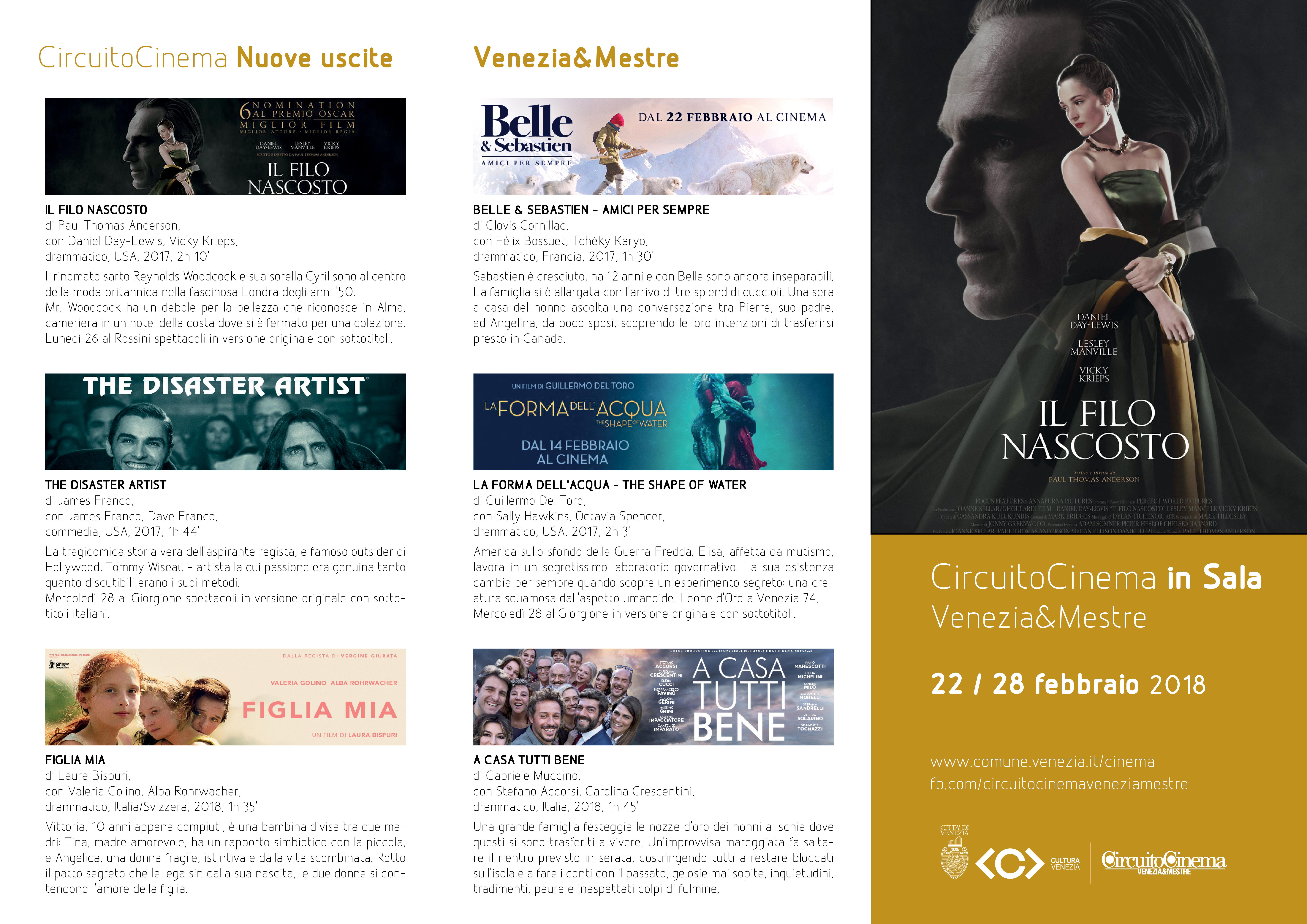 Pieghevole Circuito Cinema dal 22 al 28 febbraio 1