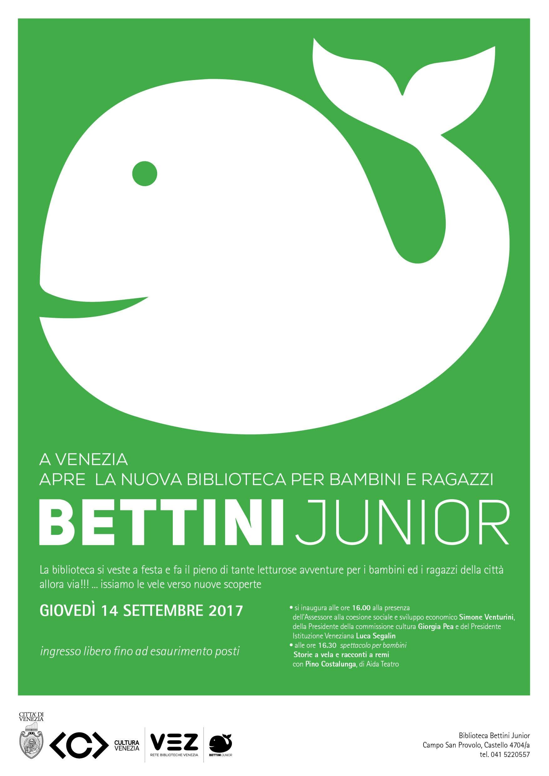 locandina Inaugurazione Bettin Junior