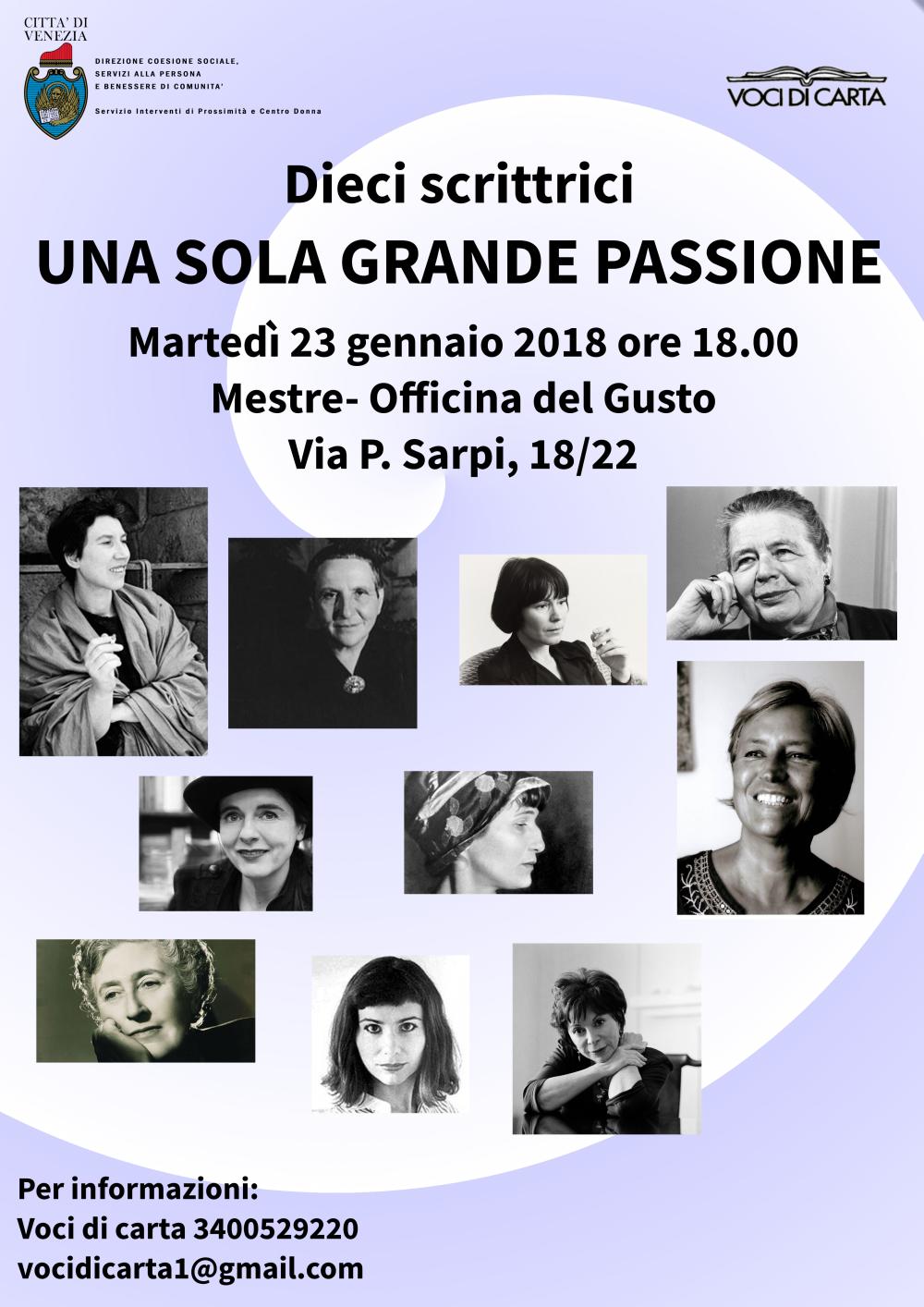 Locandina evento Officina del Gusto 10 scrittrici