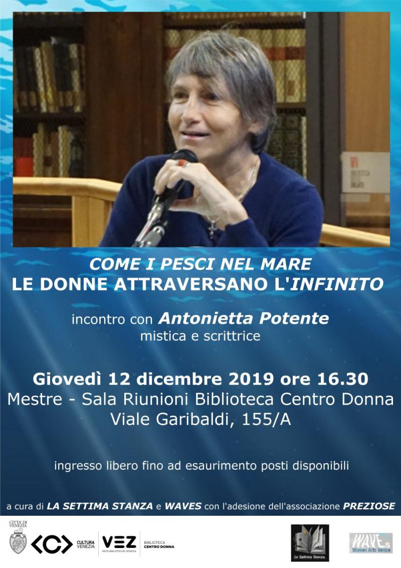 Locandina incontro Antonietta Potente 2019