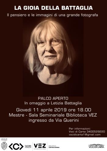 Locandina palco aperto Letizia Battaglia