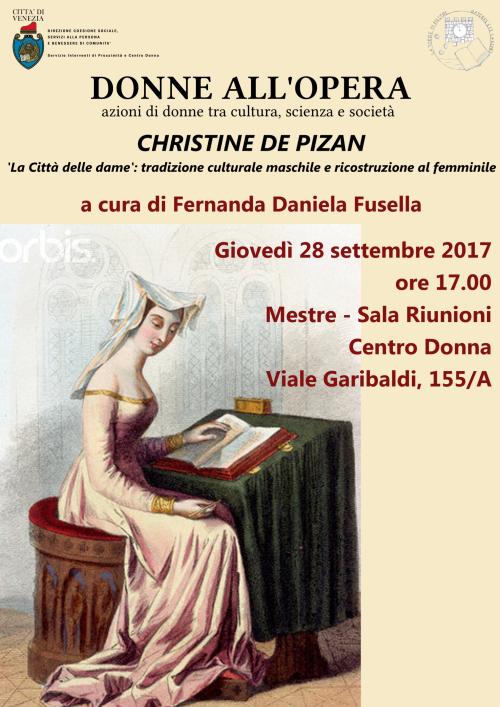 Locandina dell'evento Christine De Pinzan