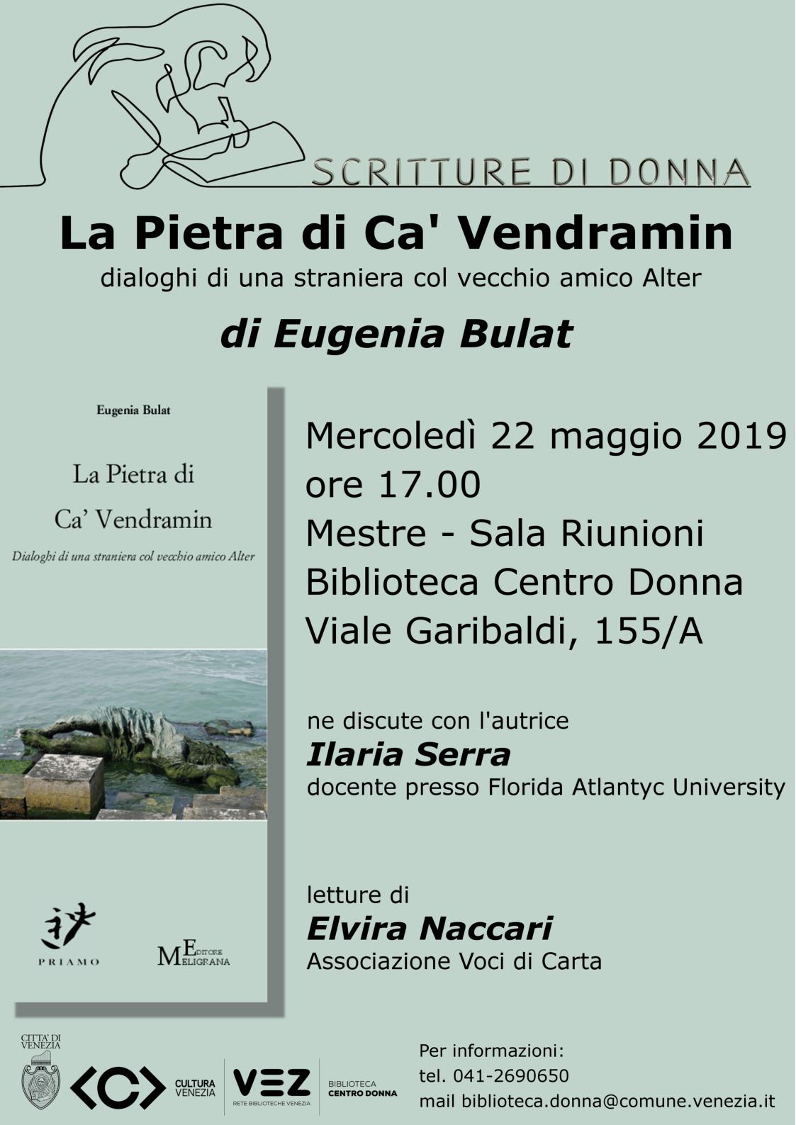 Locandina presentazione libro Eugeia Bulat