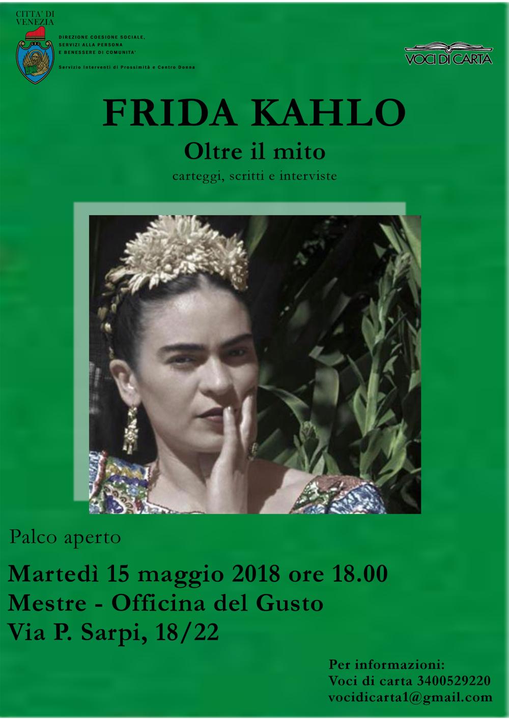 Locandina evento Frida Kahlo - Oltre il mito