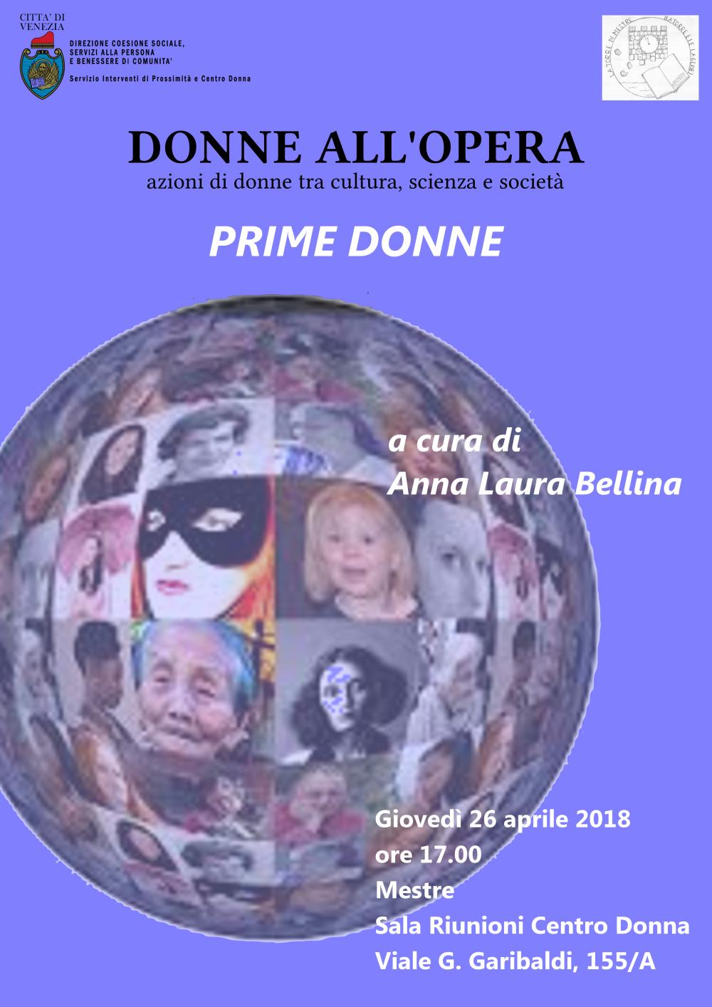 Locandina evento Prime donne