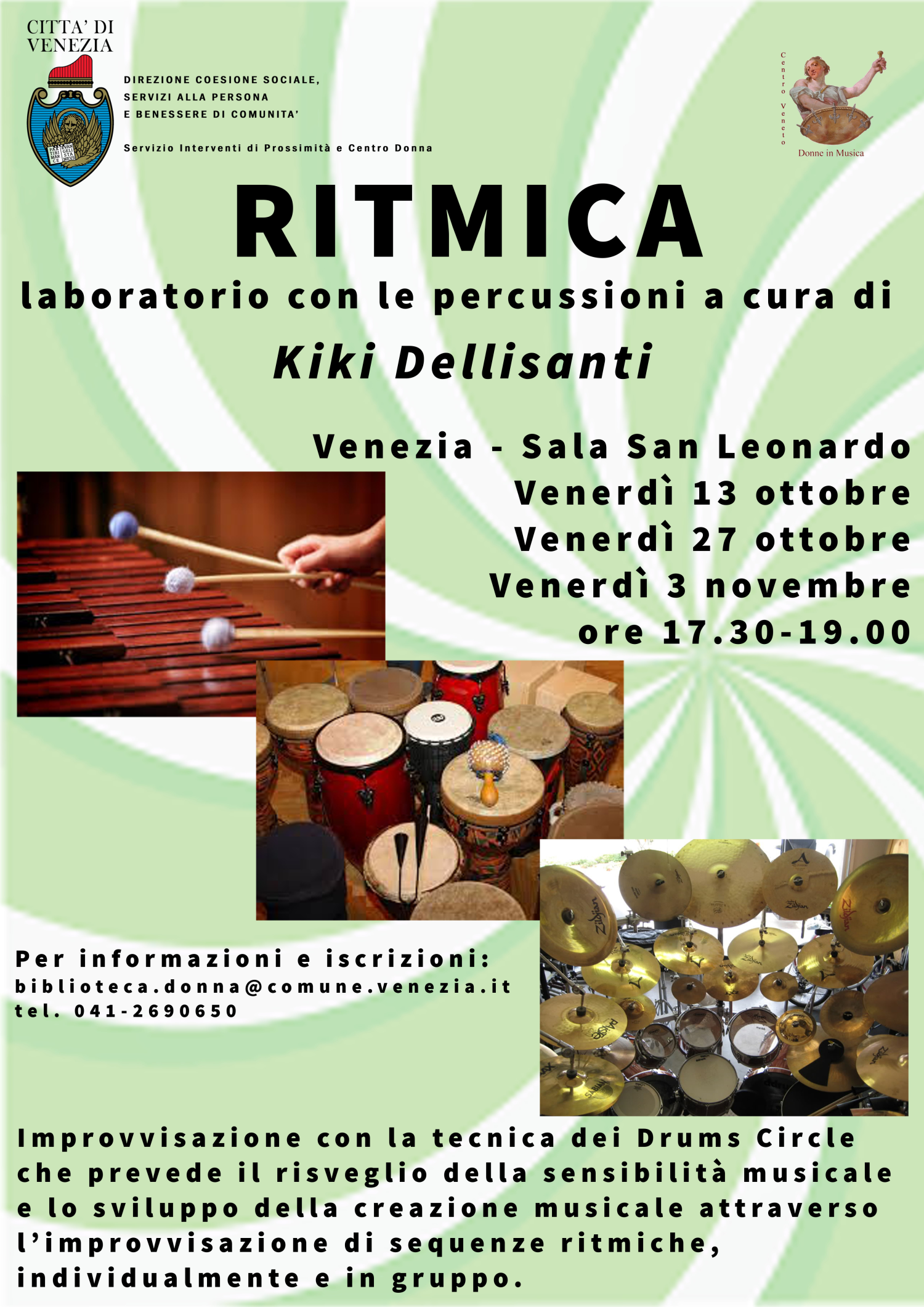 Locandina laboratorio percussioni