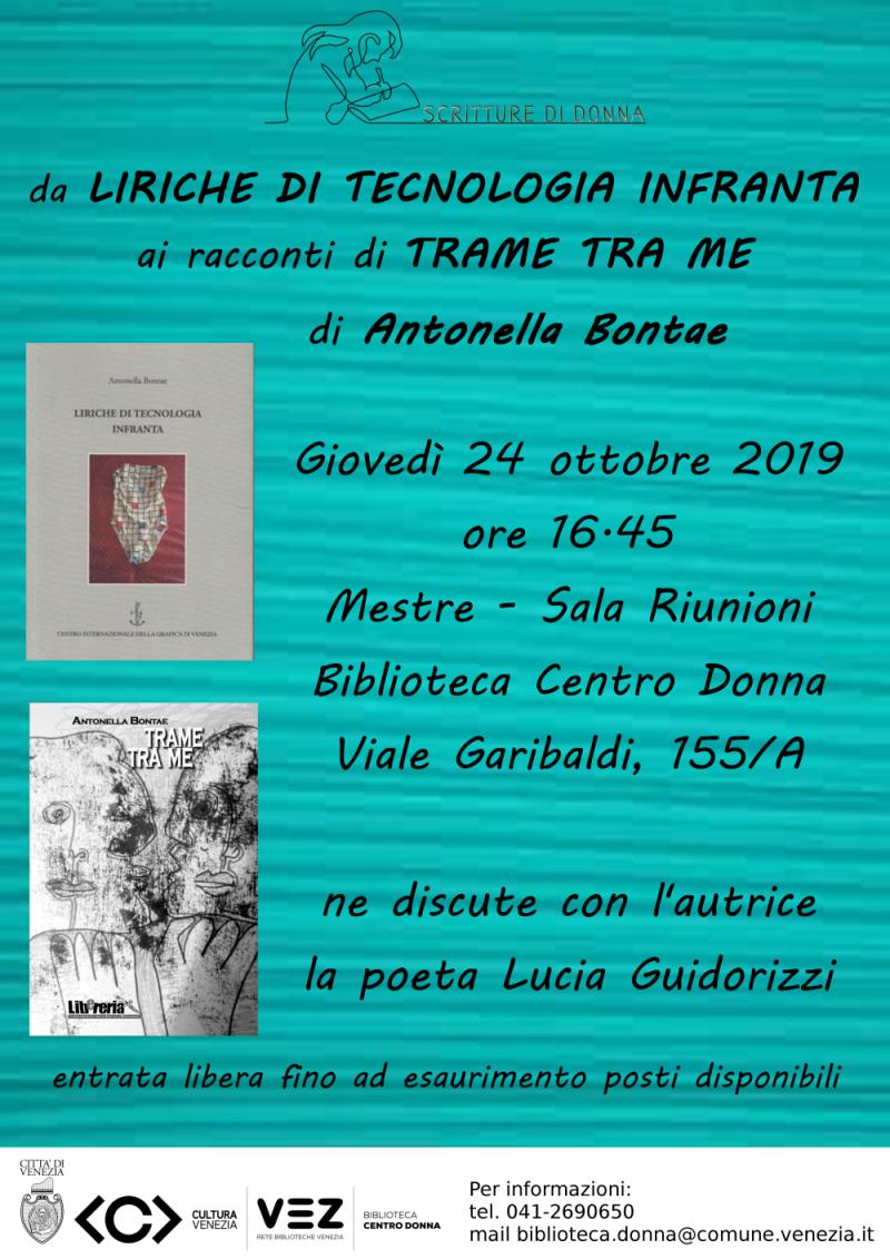 Locandina presentazione libri Antonella Bontae