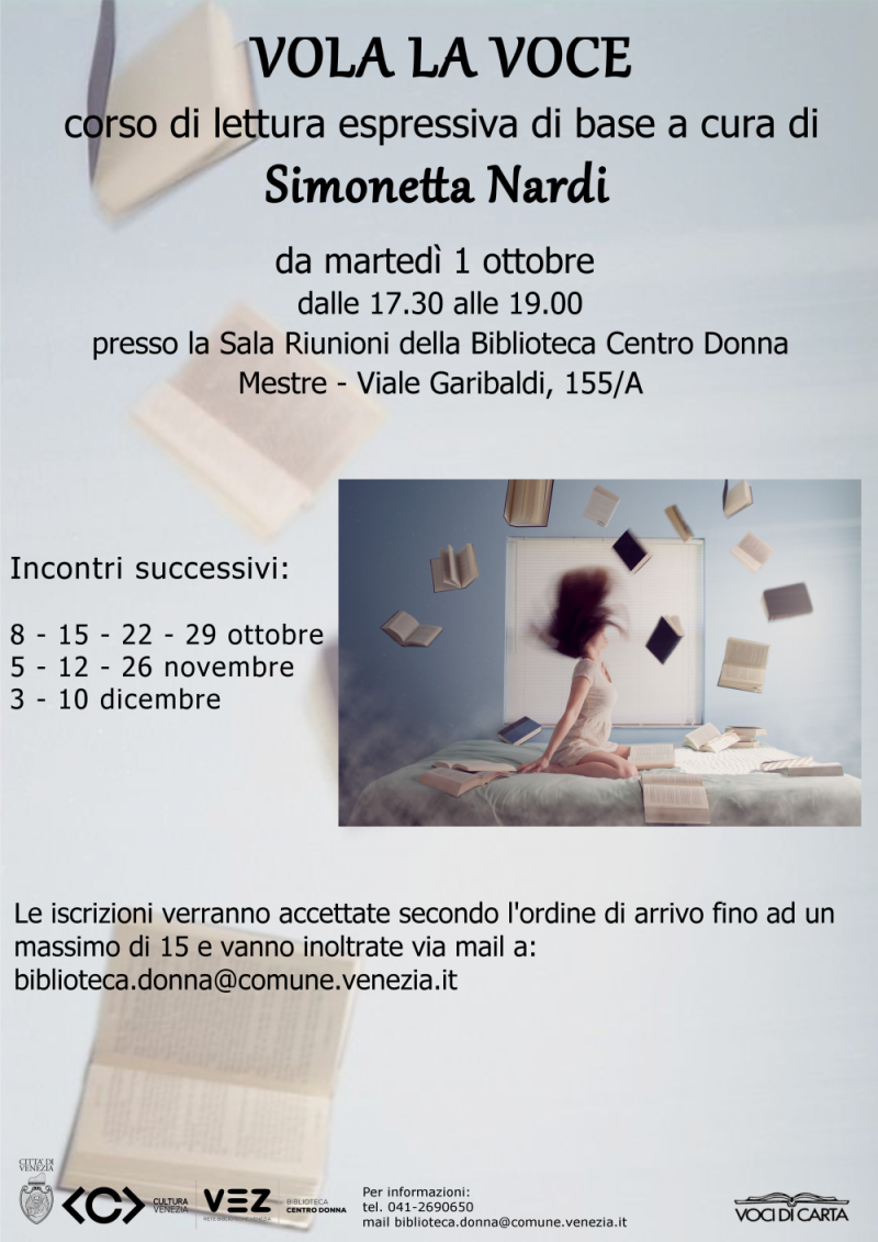 Locandina Corso lettura espressiva 2019