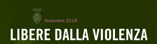 Intestazione manifesto Novembre 2018 - Libere dalla violenza