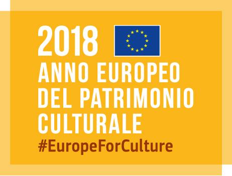 immagine gialla raffigurante logo dell'anno europeo del patrimonio culturale