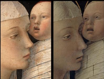 Particolare dei due dipinti