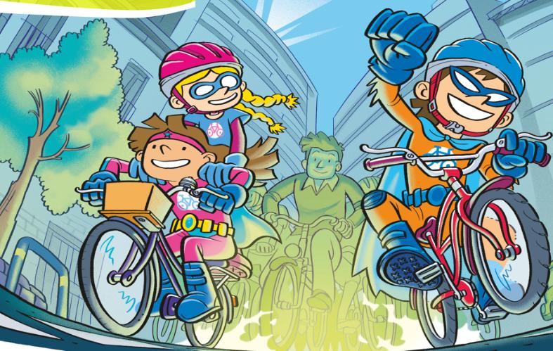 Due bambini in bicicletta