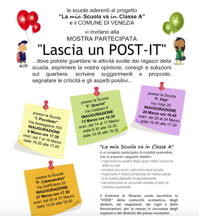 Bacheca con post-it