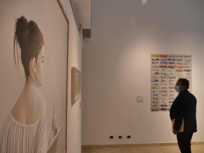 Quadri in esposizione per il premio Mestre di Pittura