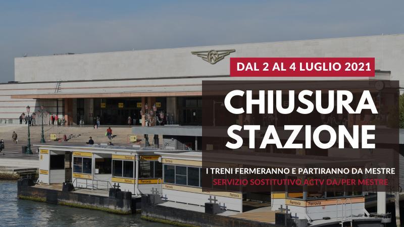 Grafica con la stazione ferroviaria di Venezia