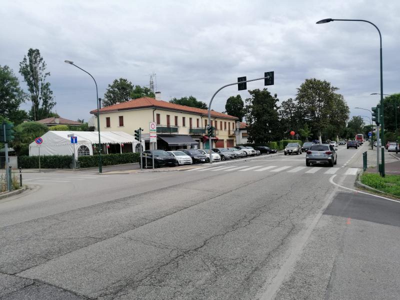 Via Terraglio angolo via Pennello (area inizio lavori)