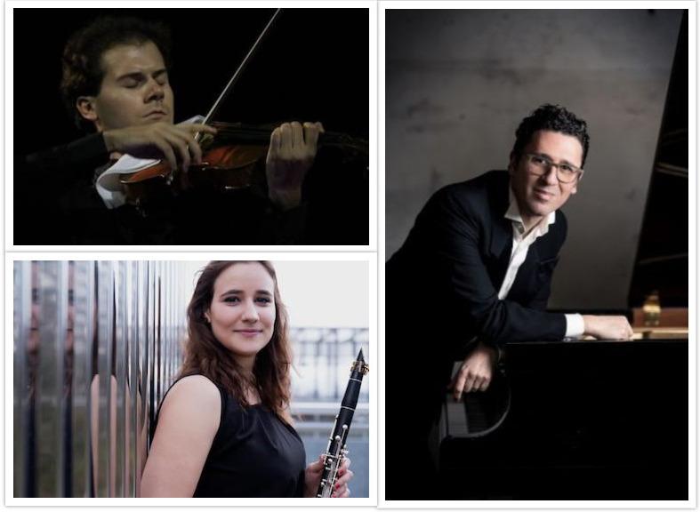 Gaia Gaibazzi (clarinetto) Claudio Laureti (viola), con il pianista Giuseppe Andaloro