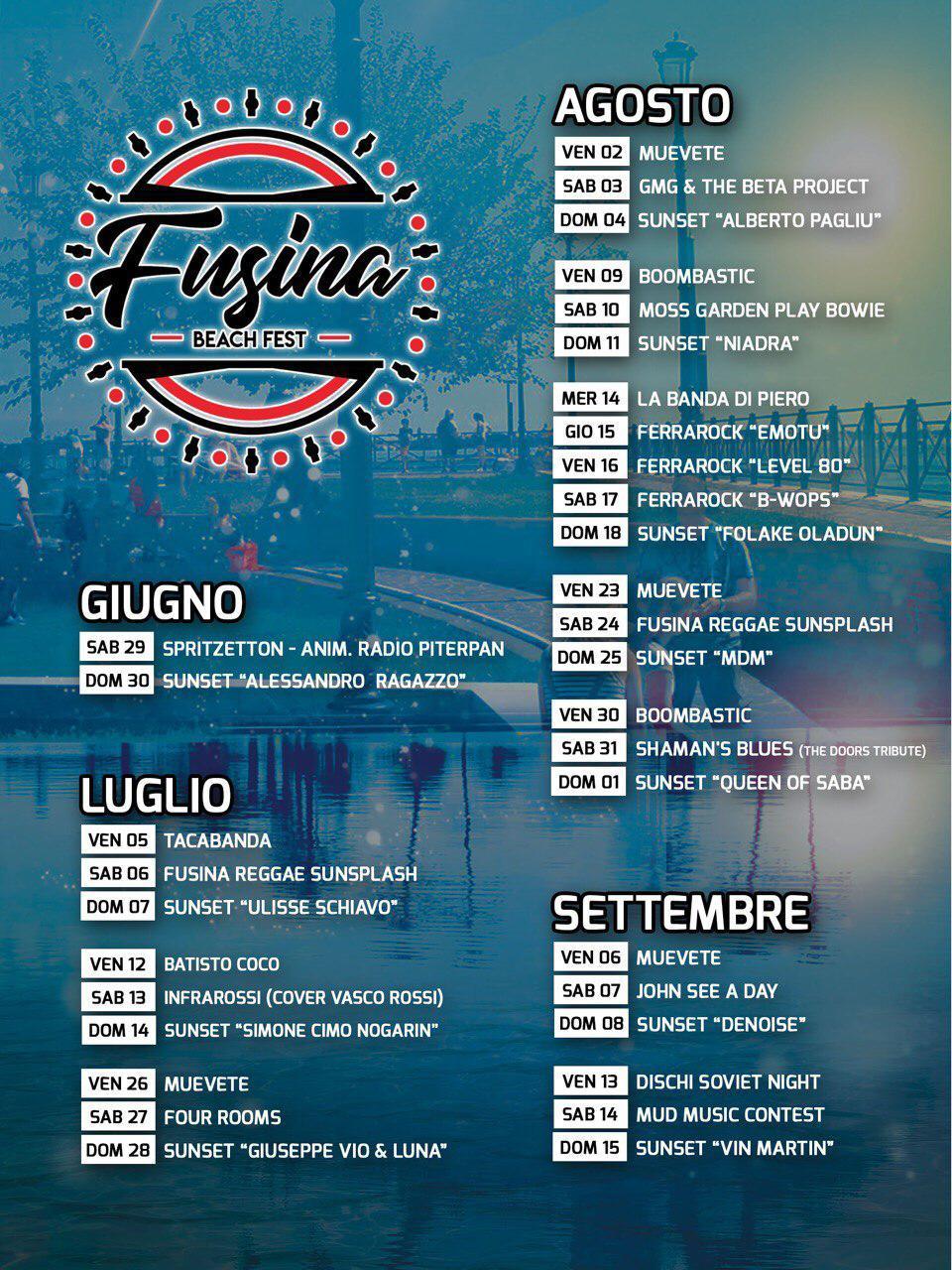 Il programma del festival