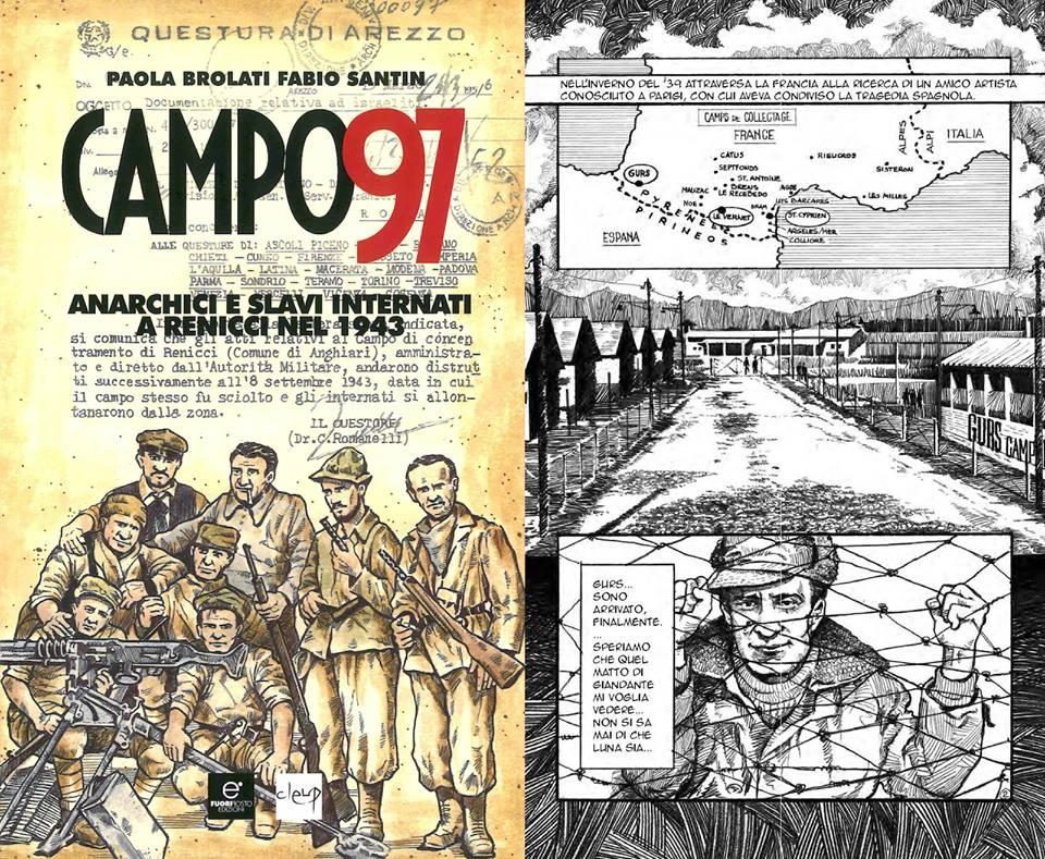 copertina e pagina interna del libro Campo 97