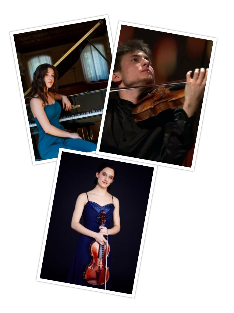 Paolo Tagliamento (violino), Benedetta Bucci (viola) e Margherita Santi (pianoforte)