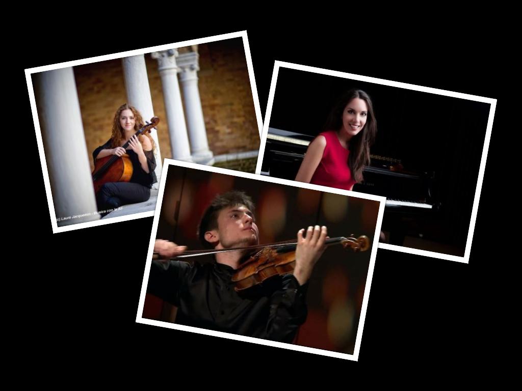 la celebre pianista Gloria Campaner, il violinista Paolo Tagliamento e la violoncellista Erica Piccotti