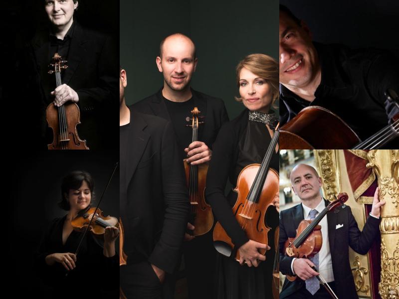 collage dei musicisti del concerto