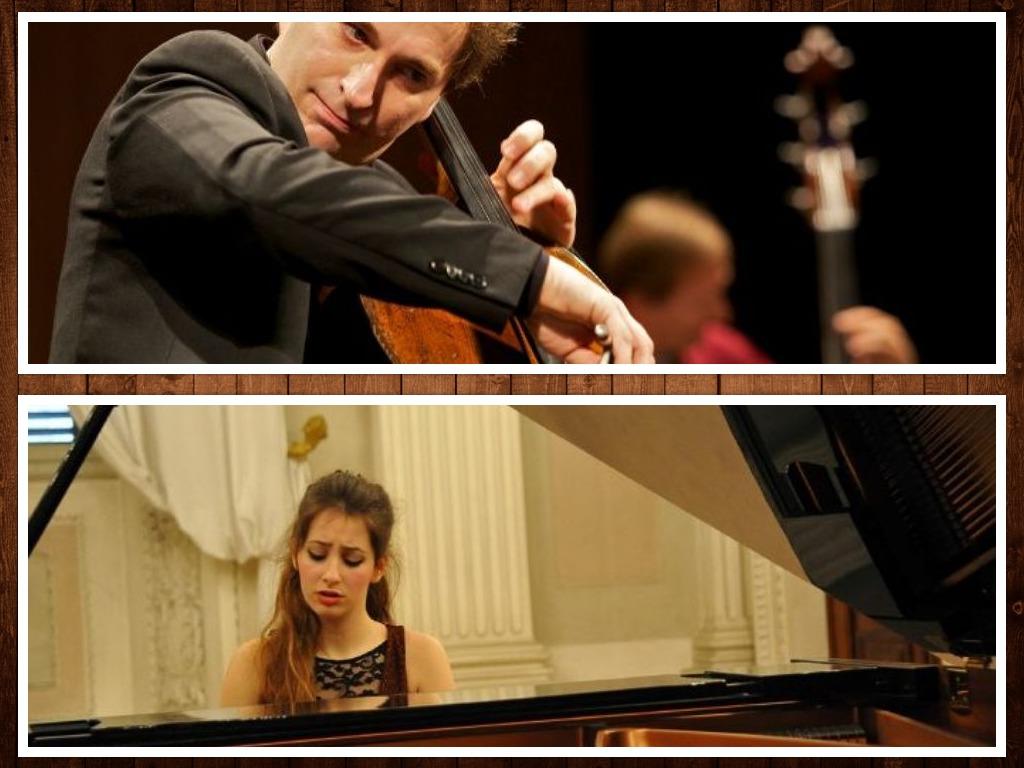 il violoncellista Enrico Bronzi e la pianista Lavinia Bertulli