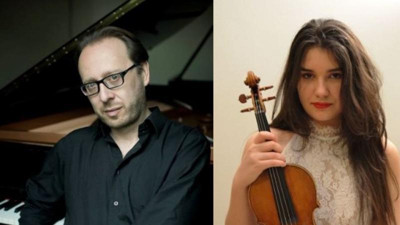 la violinista Sara Zeneli e il pianista Roberto Prosseda