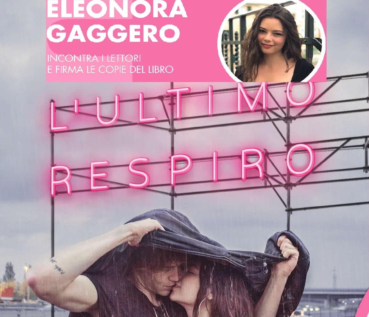 copertina libro L'ultimo respiro e foto dell'autrice Gaggero