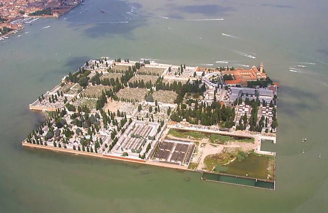 Cimitero di San Michele - vista aerea