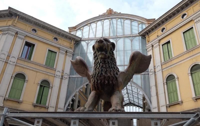 leone alato a Mestre