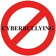 simbolo di divieto con cyberbullying