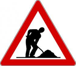 cartello lavori in corso