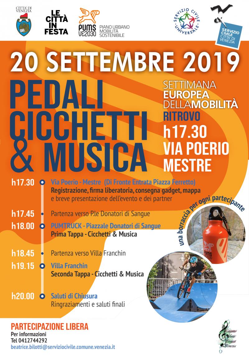 Locandina: Pedali, cicchetti & musica