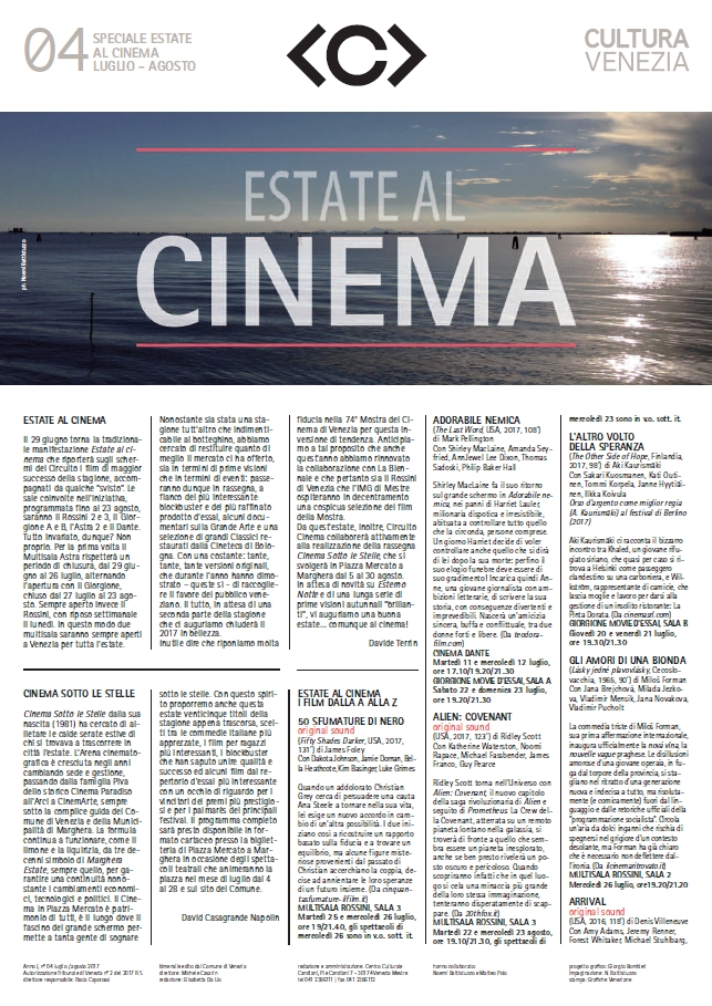 Estate al Cinema - Magazine Luglio/Agosto 2017