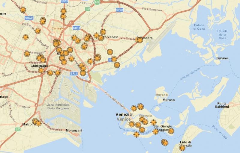 mappa centri estivi